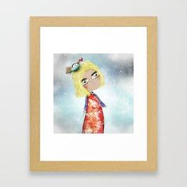 Kids Illustration Sky Stars Doll - Australia Home Decor - Clothing - Ruth Fitta-Schulz Art 2018 Framed Art Print