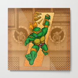 Michelangelo is a party dude Metal Print