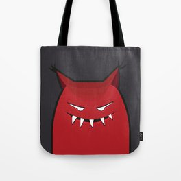 Evil Monster With Pointy Ears Tote Bag