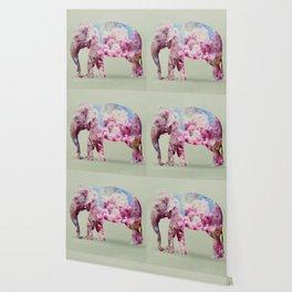 Cherry blossom Elephant Wallpaper
