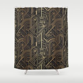Art Deco Wheels Shower Curtain