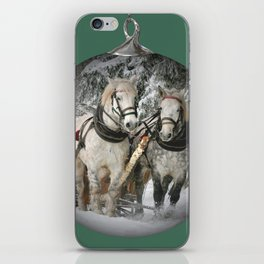 Christmas Horses iPhone Skin