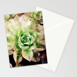 Colorful Succulent Watercolor Stationery Cards