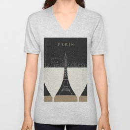 Vintage poster - Paris Unisex V-Neck