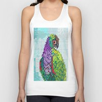 parrot Tank Tops featuring Parrot  by Kanika Mathur Design