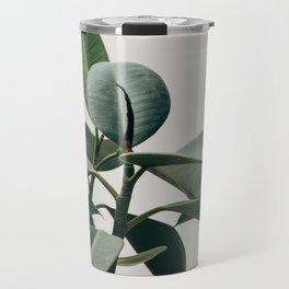 Minimalist Mid Century Modern House Plant Green Leaves Travel Mug