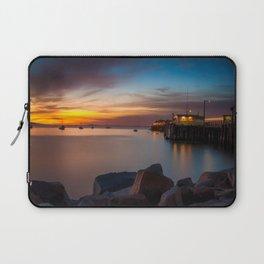 Here she comes again the sun rising at Port San Luis vila Beach Laptop Sleeve