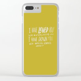 Everlasting Love x Mustard Clear iPhone Case