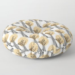 New Beginnings - Black & Gold Floor Pillow