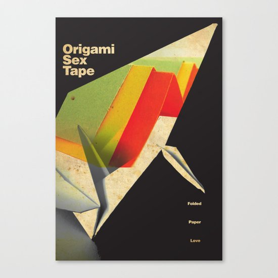 Origami Sex Tape Canvas Print