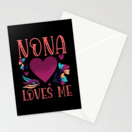 Nona Loves Me Grandmothers Gift to Granddaughter Stationery Cards