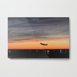 Takeoff at Sunset Metal Print