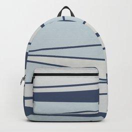 Vintage blue stripe pattern for home Backpack