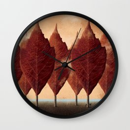 Lupo d'autunno Wall Clock