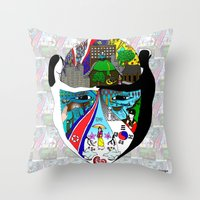 korea Throw Pillows featuring A trip to Korea  by doctusdesign