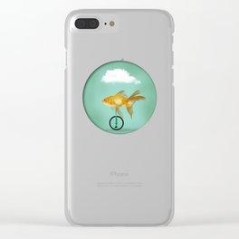 unicyle goldfish III Clear iPhone Case