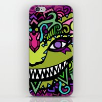 cheshire cat iPhone & iPod Skins featuring CHESHIRE by AZZURRO ARTS