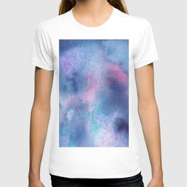 Abstract Watercolor Minimalist Violet Hour purple violet pink T-shirt