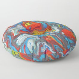 Abstract Oil Painting 10 Floor Pillow