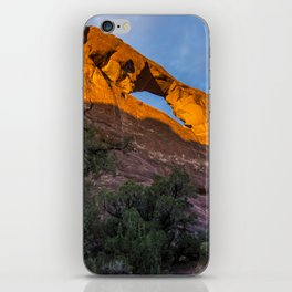 Skyline Arch At Sunset - Arches National Park - Utah iPhone Skin