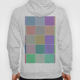 Abstract Quilt Multi Colored Tile Pattern Hoody
