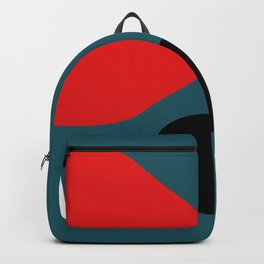 Minimal Red Black Abstract Art Backpack