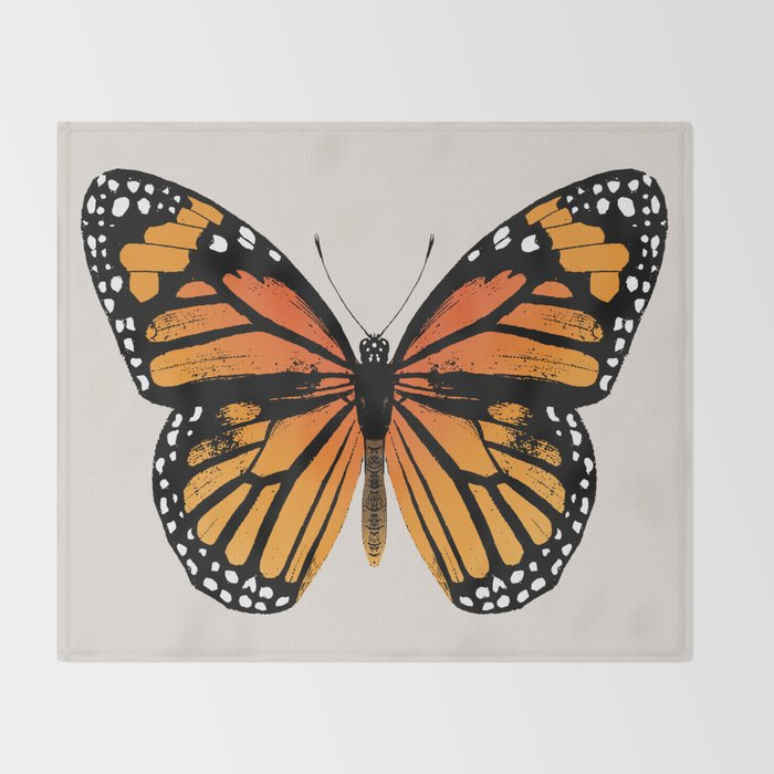 Monarch Butterfly | Vintage Butterfly | Throw Blanket