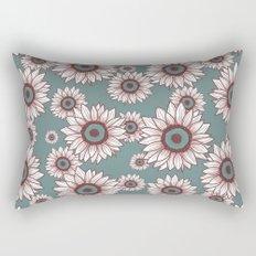 White Sunflowers Rectangular Pillow