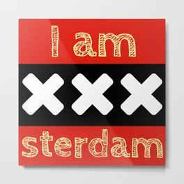 Travel #2 Amsterdam Metal Print