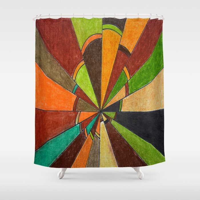 Psychedelic Shower Curtain By Lennyfdzz