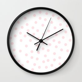Simply Dots in Pink Flamingo Wall Clock