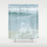 salt water Shower Curtains featuring Salt Water for the Soul by Bella Blue Photography