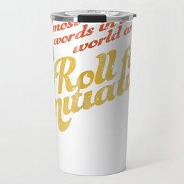 """Funny RPG Game """"Roll for Initiative"""" d20 Retro Tshirt Travel Mug"""