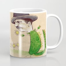 Dragon Guy with Flowers Mug