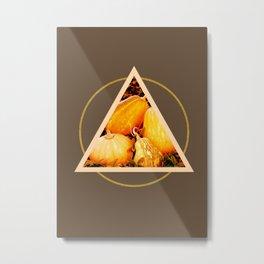 Minimal Pumpkins #society6 #decor #buyart Metal Print