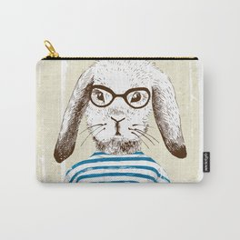 Hipster Rabit with Style Carry-All Pouch