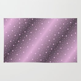 purple,Many pretty shamrocks in a design metal shiny festively elegant, for anyone from the family Rug