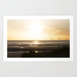 Sunset in Cosby beach Art Print