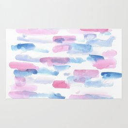 180527 Abstract Watercolour 16 | Watercolor Brush Strokes Rug