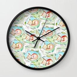 Lunes Wall Clock