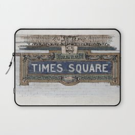 Times Square Subway New York, Tile Mosaic Sign Laptop Sleeve