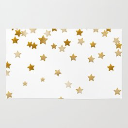 Falling Stars - Gold Marble Rug
