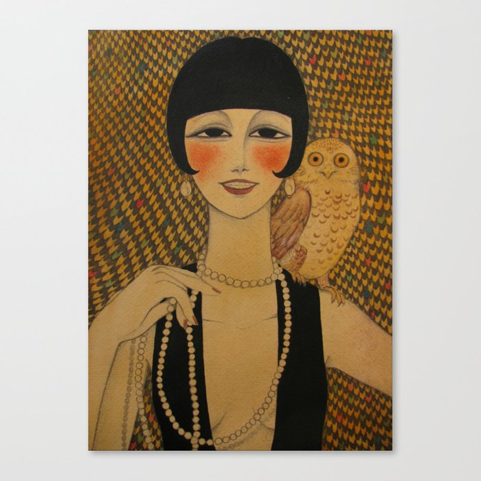 She said she worked in a cabaret singin' duets with an owl Canvas Print