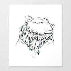 Poetic Bear Canvas Print