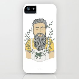 Man and frog.  iPhone Case