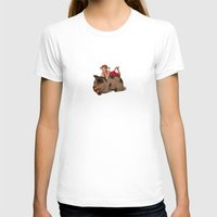 reading T-shirts featuring Sleeping & Reading by Beati