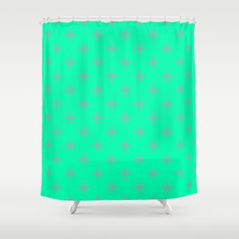 Ornamental Pattern with Mint and Grey Colourway Shower Curtain