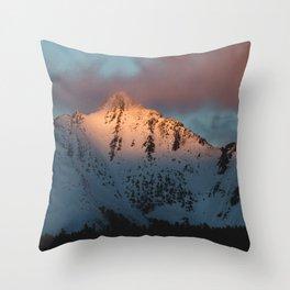 SUMMIT ON FIRE Throw Pillow