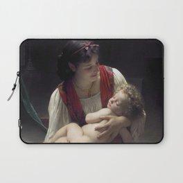 "William-Adolphe Bouguereau ""Berceuse (Le coucher)"" Laptop Sleeve"