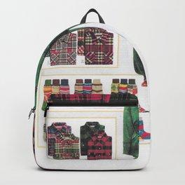 dress your family in plaid - Christmas nostalgic classic catalog design Backpack